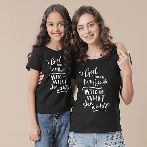 A Girl Should Be Two Things Tees