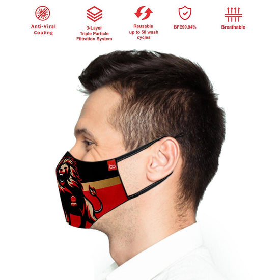 RCB IPL Adults Protective Masks