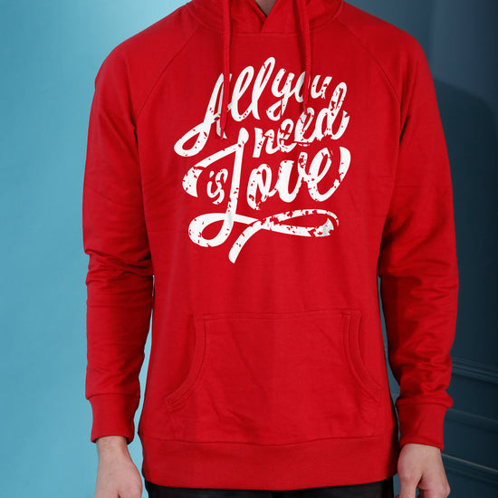 All You Need Is Love, Matching Hoodie For Men And Crop Hoodie For Women