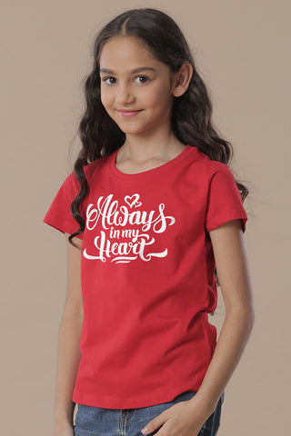 Always In My Heart Mom & Daughter Tees for daughter