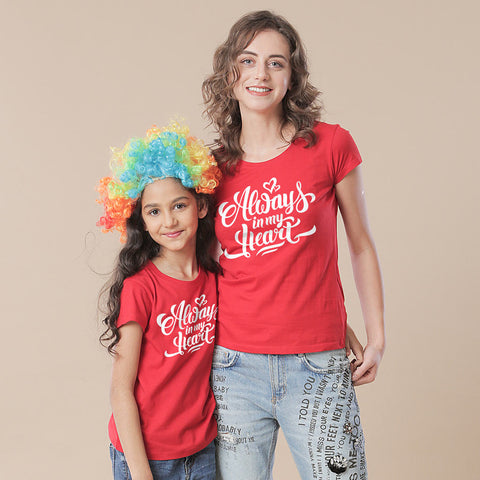 Always In My Heart Mom & Daughter Tees