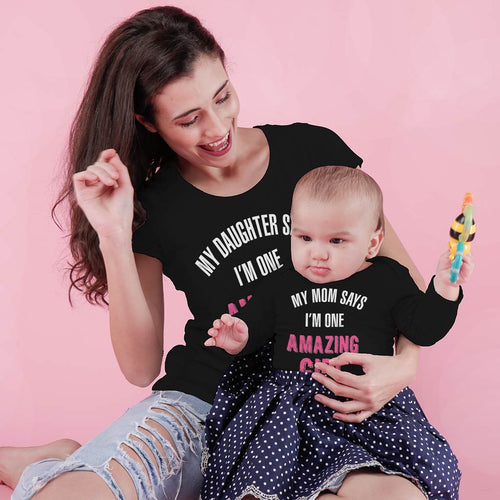 Amazing mom & daughter bodysuit and tees