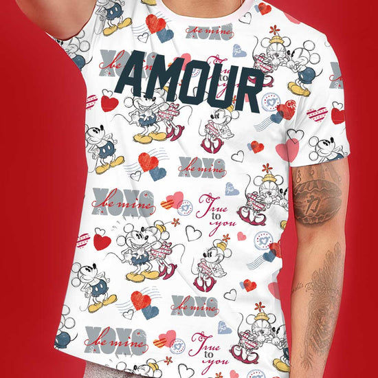 Amour, Disney Couple Crop Top And Tee