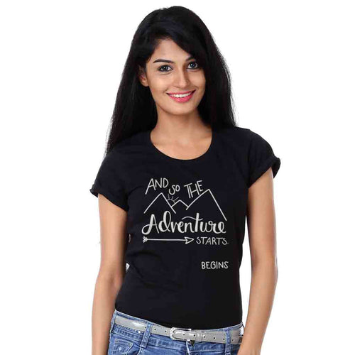 And So The Adventure Begins Friends Tees for women