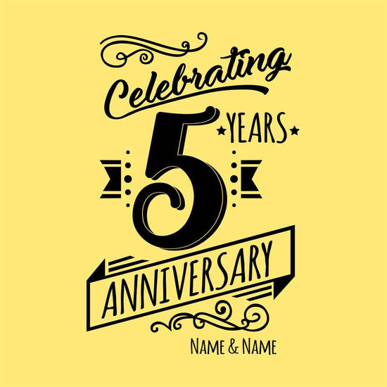 Celebrating 5 Years Anniversary Tees