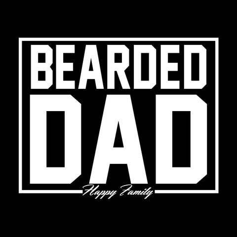 Black Bearded Dads Father-SonTees