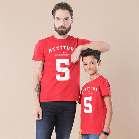 Attitude Dad And Son Tee