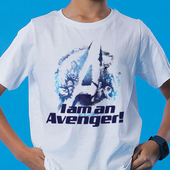 I Am An Avenger, Matching Marvel Tees For Dad And Son