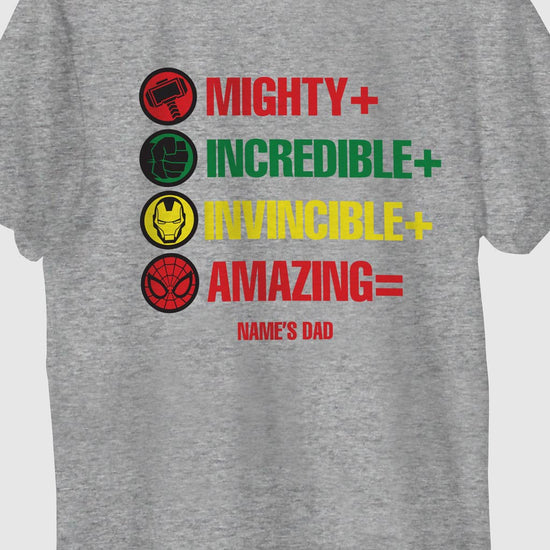 Mighty Incredible, Customisable Tee For Dad