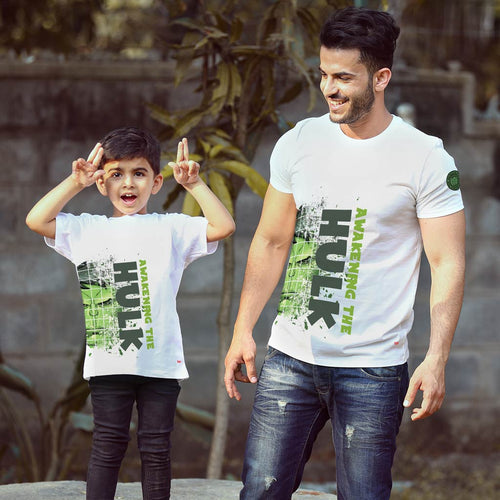 Hulk Always, Matching Marvel Tees For Dad And Son