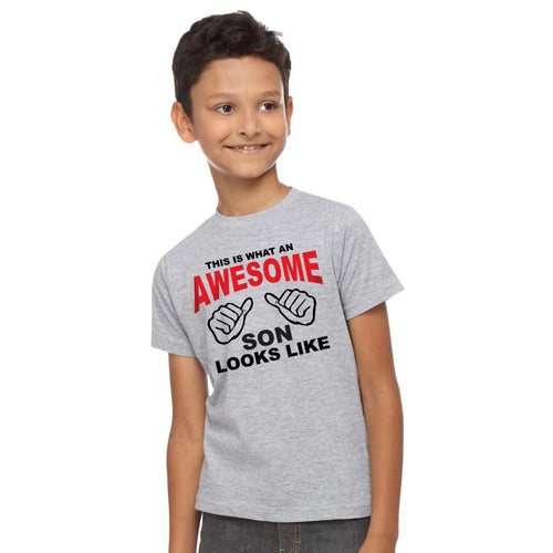 Awesome Dad Looks Like Dad, Daughter and Son Tee For Son