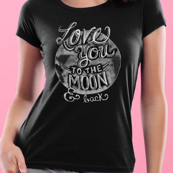 Love You To The Moon Matching Couples Tees