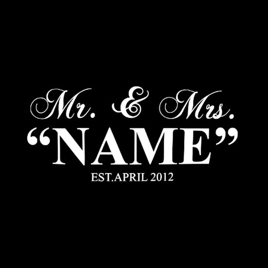 Mr. & Mrs. Name Tee