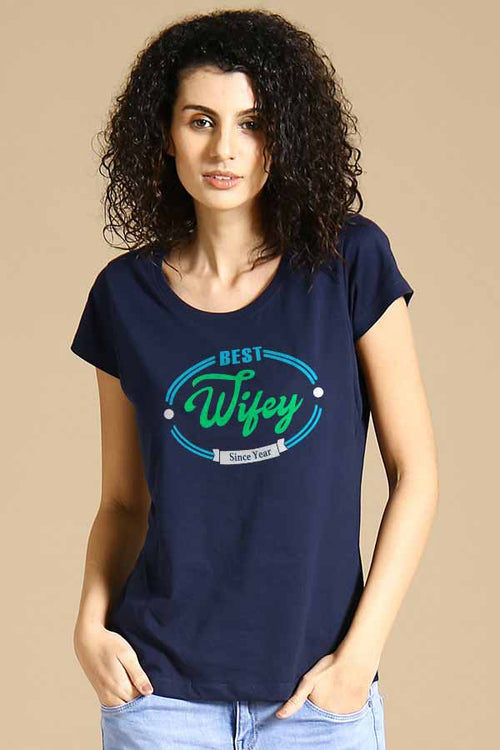 Hubby & Wifey Anniversary Tees For Women