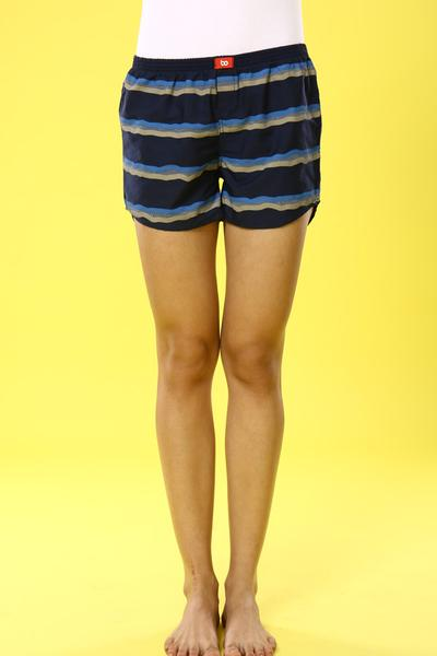 Stripey Vibes Cotton Boxers For Women