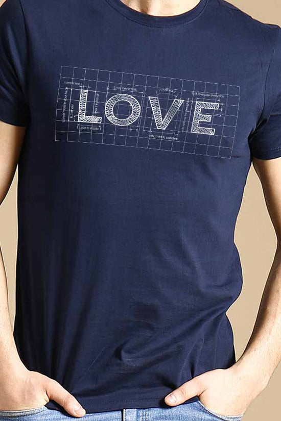 Love Grid Couple Tees