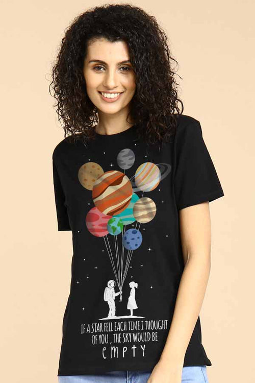 If A Star Fell Each Time Couple Tees for women