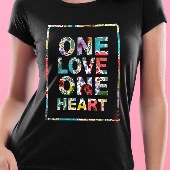 One Heart, One Love Matching Couples Tees