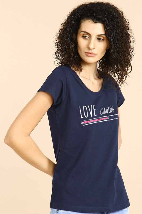 Love Loading  Couple Tees for women