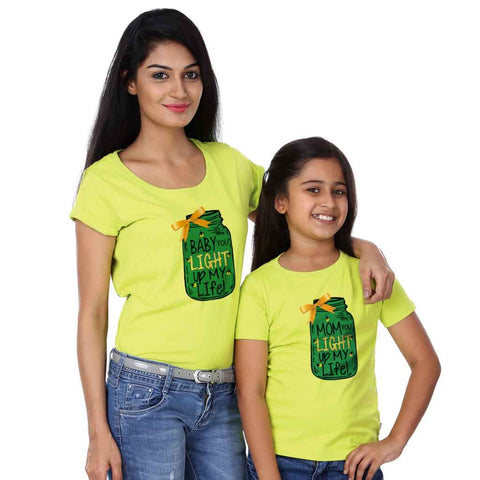 Baby And Mommy Light Up Life Tees