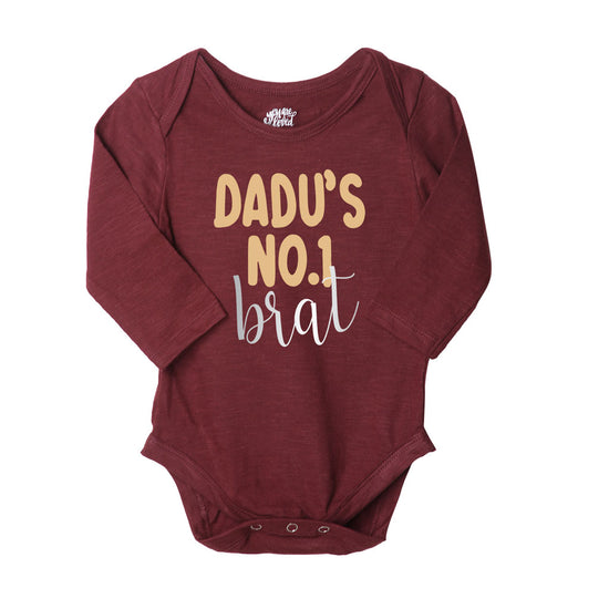 Dadu's Brat, Set Of 3 Bodysuits For The Baby