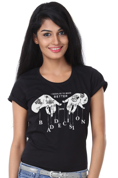 Bad Decisions, New Year Tee For Women