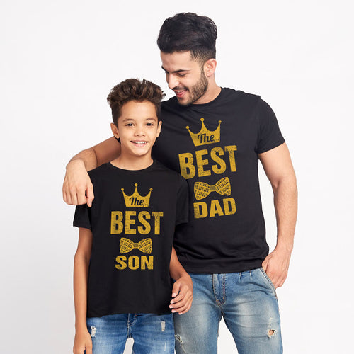 Best Dad And Son Black Tees