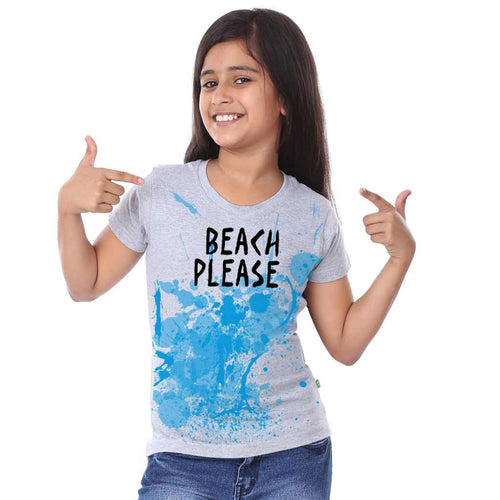 Beach Please Family Tees for daughter