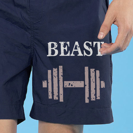 Beauty And Her Beast Matching Navy Blue Couple Boxers