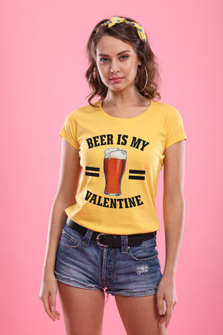 Beer Is Bae! (Yellow) ,Matching Couples Valentines Day Tees For Women