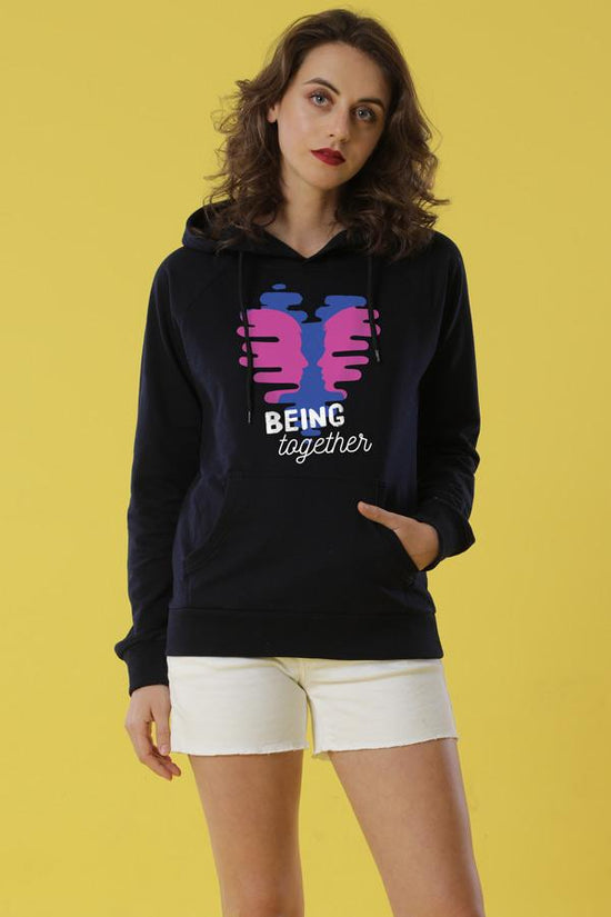 Being Together Hoodies For Women