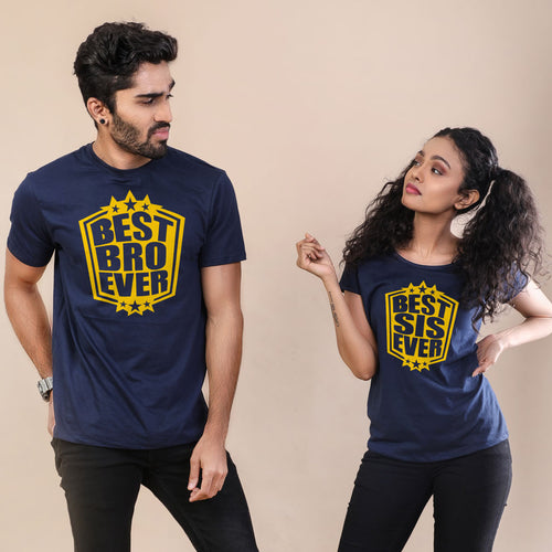 Best Bro And Best Sis Ever Adult Tees