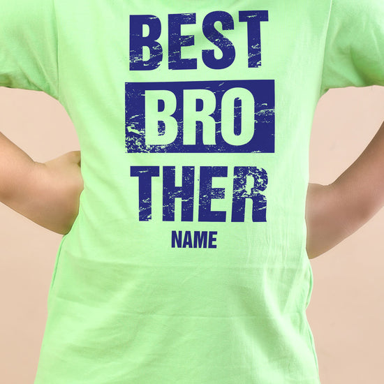 Best Brother, Personalised Tee For Brother