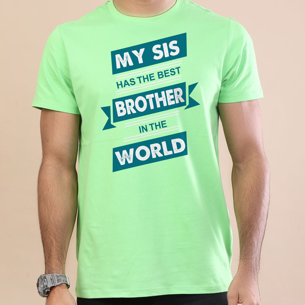Matching Tshirts For Brother And Sister Best In The World Green
