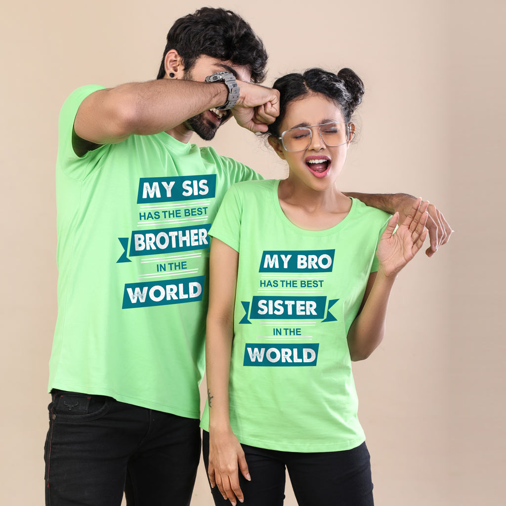 24e3a3ae Matching Tshirts for Brother and Sister - Best in the World - Green