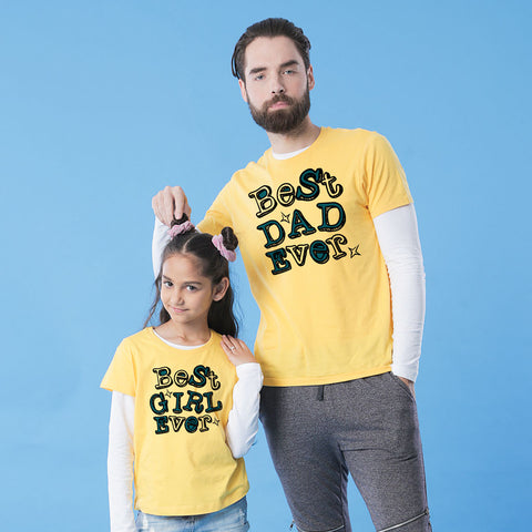 Best Dad/Girl Ever Dad and Daughter Tee