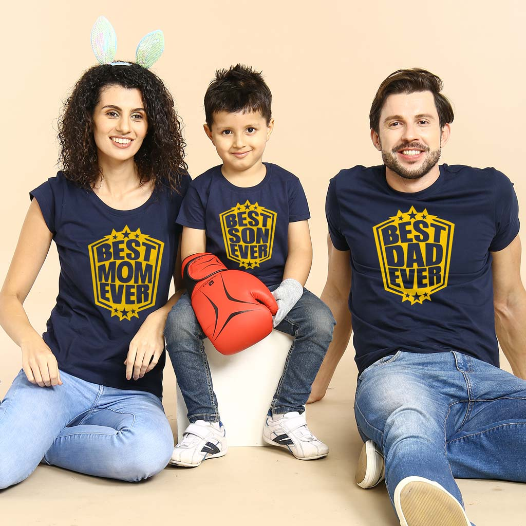 Best Dad Mom Son Ever Family Tees