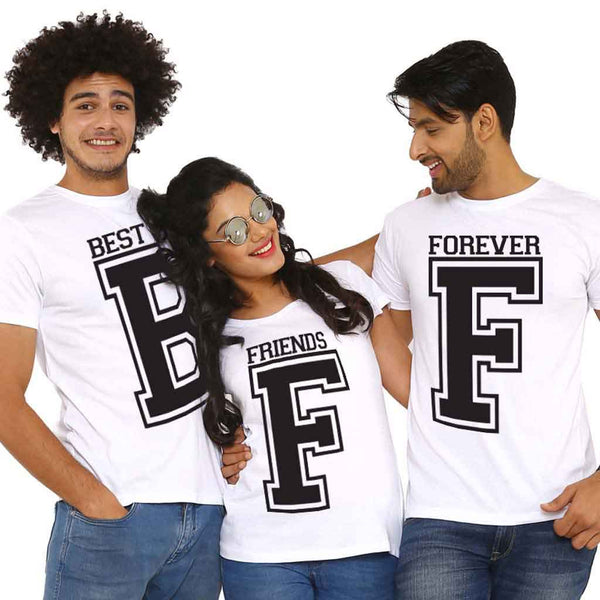 Matching Tees For Best Friends Forever White Colour