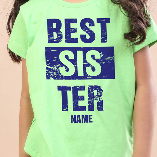 Best Sister, Personalised Tee For Sister