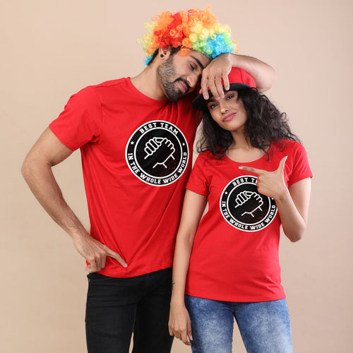 Best Team In World Wide Adult Siblings Tees
