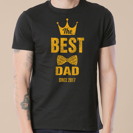 Crown And Bowtie Best Dad Ever, Personalized Tee For Dad