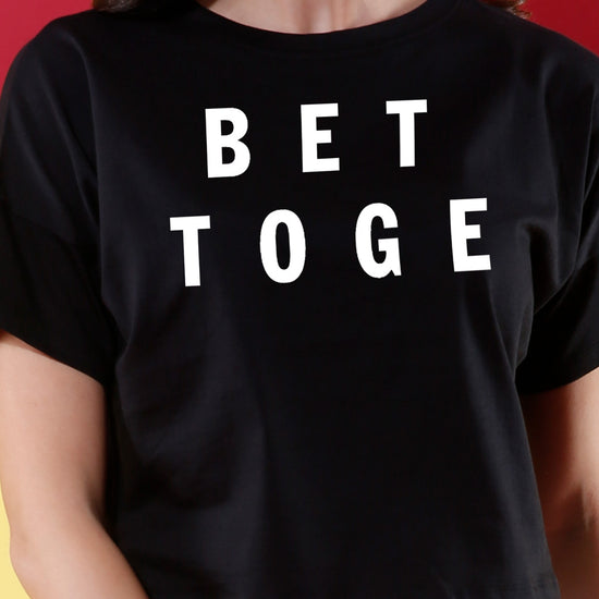 Better Together, Matching Couples Crop Top & Tee