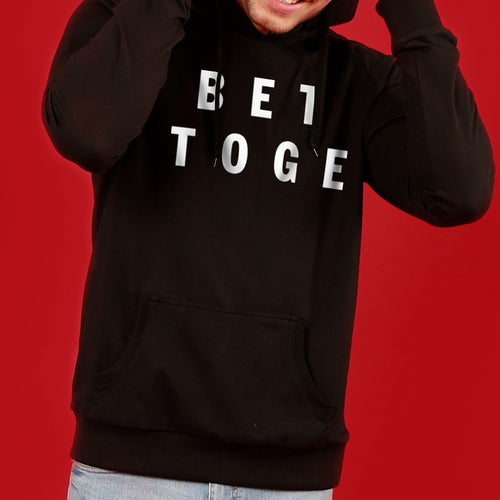 Together Is Better, (Black) Matching Hoodie For Men And Crop Hoodie For Women