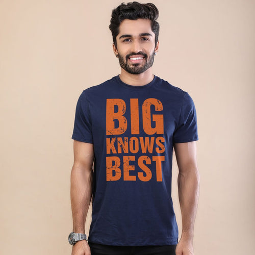 Big Knows Best-Small Knows Rest Adult Tees, Tee For Men