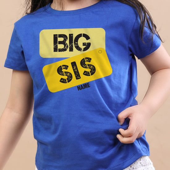 Big Sis, Personalised Tee For Sister