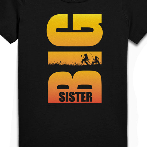 Lil Brother-Big Sister, Matching Bodysuit And Tee For Brother And Sister