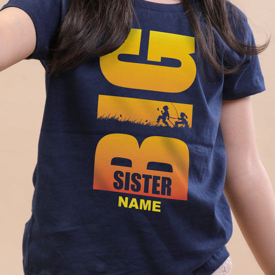 Big, Personalised Tee For Sister