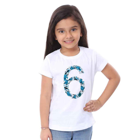 Birds Six Year Girl Birthday Tees