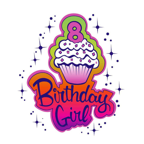 8 Year Girl Birthday Tee