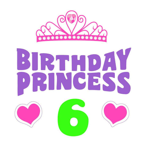 6 Year Birthday Princess Tees